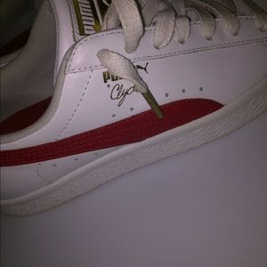 Clyde Core Foil Sneaker - White Red VIM WHITE RED